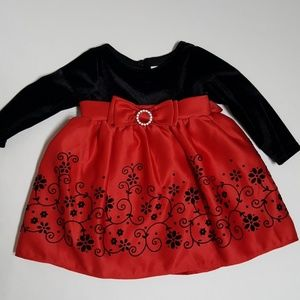 Youngland Holiday Dress Size 3/6 months